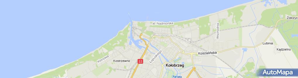 Zdjęcie satelitarne Pracownia Architektoniczna Pomarańczowe Nowak