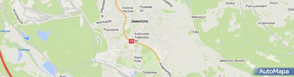 Zdjęcie satelitarne Pracownia Projekt Architekt Konstrukc Bieranowski Stefan i Marcin