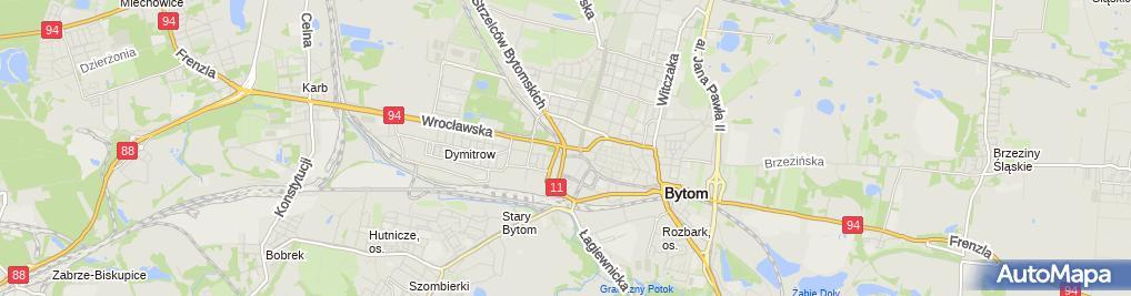 Zdjęcie satelitarne Areszt Śledczy w Bytomiu