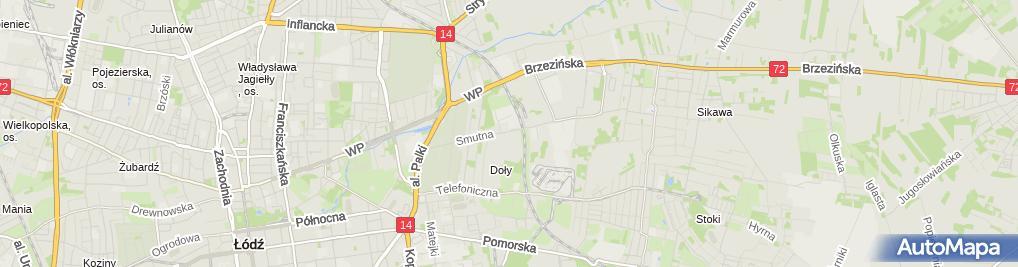 Zdjęcie satelitarne Okręgowy Inspektorat Służby Więziennej w Łodzi