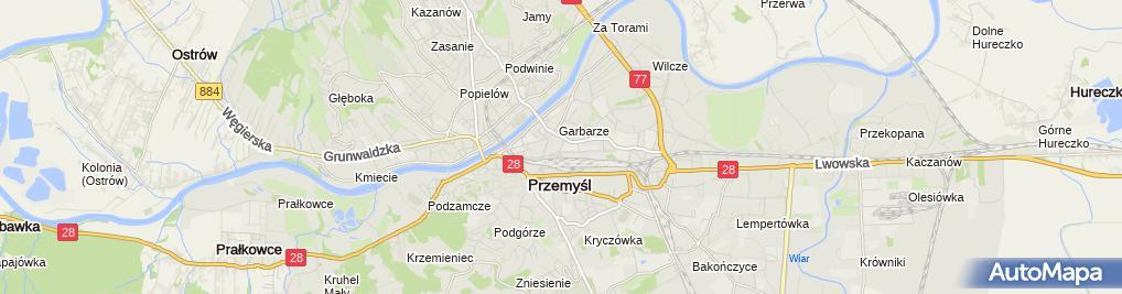 Zdjęcie satelitarne Zakład Karny w Przemyślu