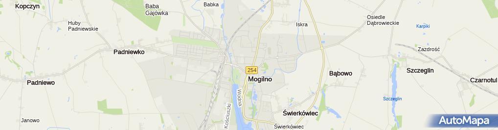 Zdjęcie satelitarne ARiMR - Biuro Powiatowe w Mogilnie