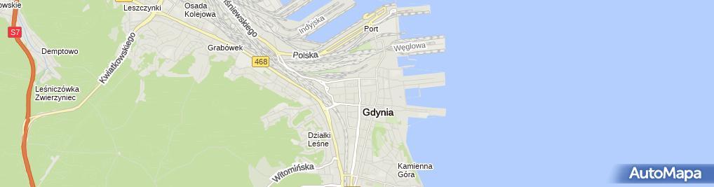 Zdjęcie satelitarne Ulica Starowiejska i Plac Kaszubski