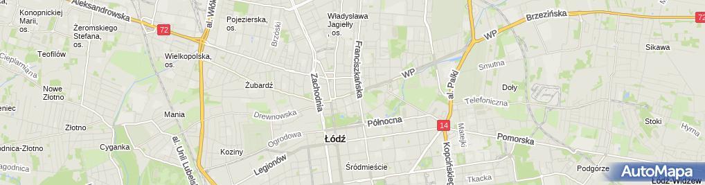 Zdjęcie satelitarne Automek Przedsiębiorstwo Handlowe
