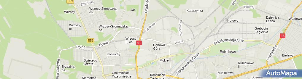 Zdjęcie satelitarne AUTOPART Firma Handlowo-Usługowa