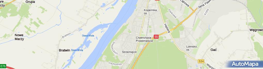 Zdjęcie satelitarne Moden