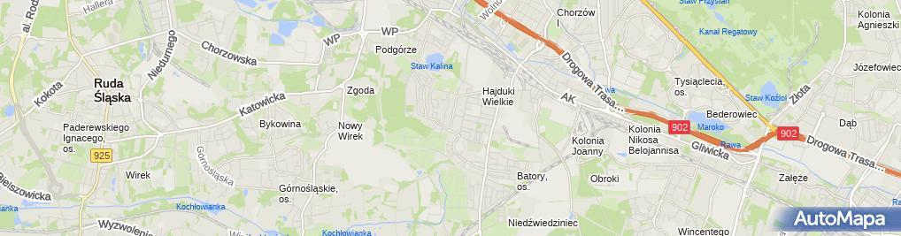 Zdjęcie satelitarne Sprzedaż Artykułów Motoryzacyjnych
