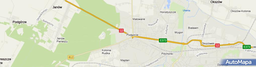 Zdjęcie satelitarne Podgórze