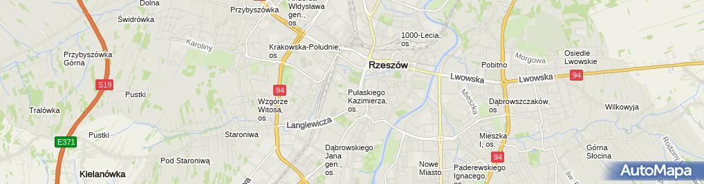 Zdjęcie satelitarne Paczkomat
