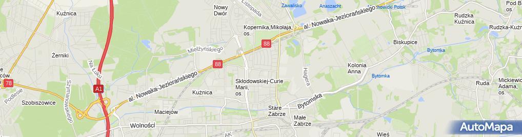 Zdjęcie satelitarne Autos - Sklep, Hurtownia