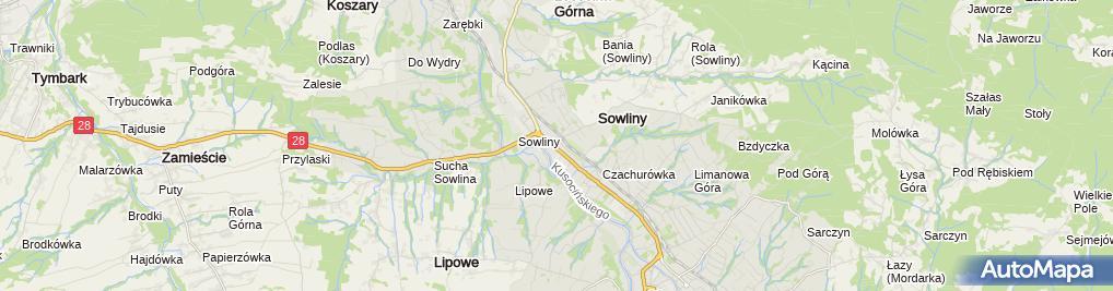 Zdjęcie satelitarne BS w Limanowej