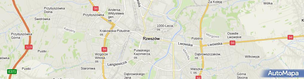Zdjęcie satelitarne BS w Tyczynie