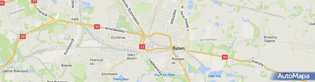 Zdjęcie satelitarne Bank Spółdzielczy Bytom