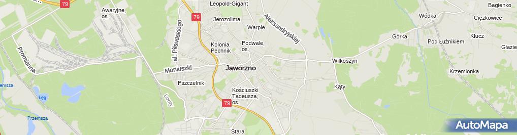 Zdjęcie satelitarne Bank Spółdzielczy w Jaworznie