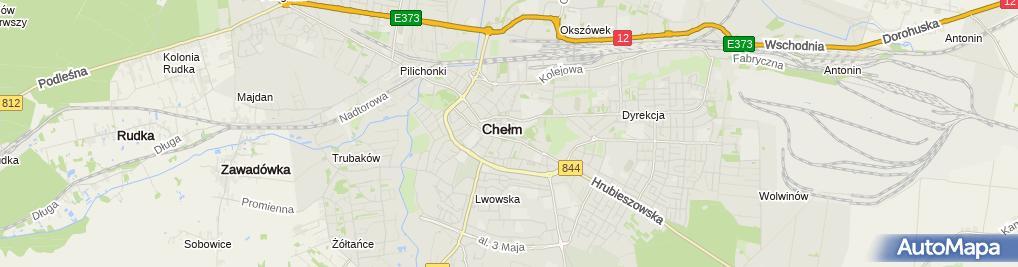 Zdjęcie satelitarne Bar Gęsia Szyja