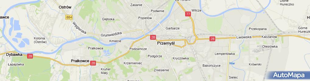 Zdjęcie satelitarne Bar Rubin i Czadowska T Czadowski