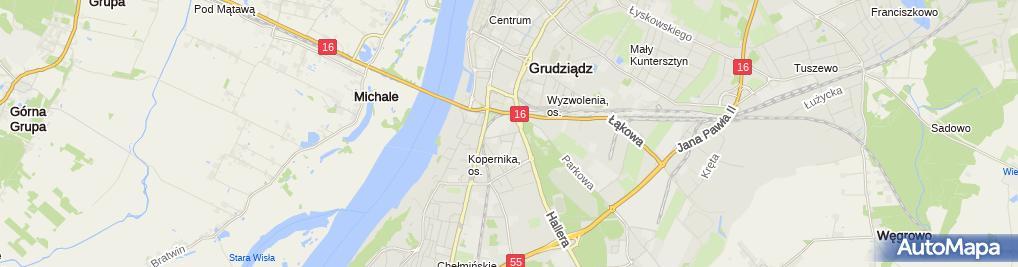 Zdjęcie satelitarne Zacisze