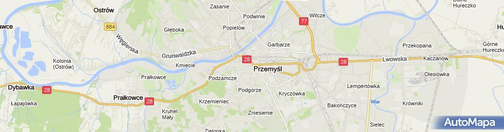 Zdjęcie satelitarne Żaczek