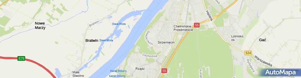 Zdjęcie satelitarne Usługi BHP - Przemysław Kutrzyk