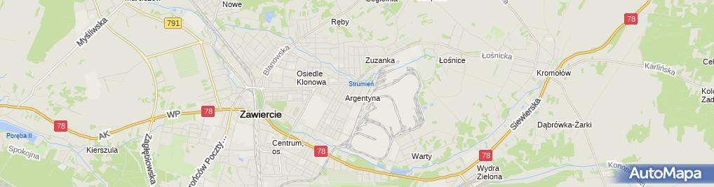 Zdjęcie satelitarne Pedagogiczna Biblioteka Wojewódzka Im. J. Lompy