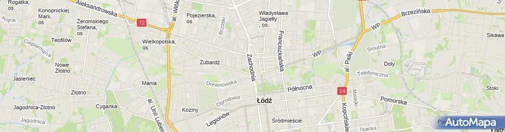 Zdjęcie satelitarne Filia Łódź - Bałuty nr 12