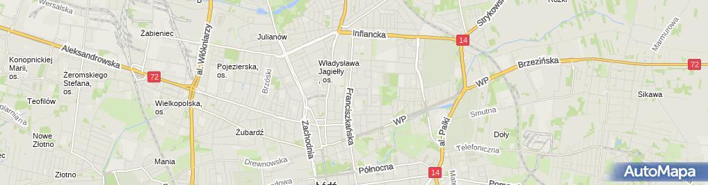 Zdjęcie satelitarne Filia Łódź - Bałuty nr 4