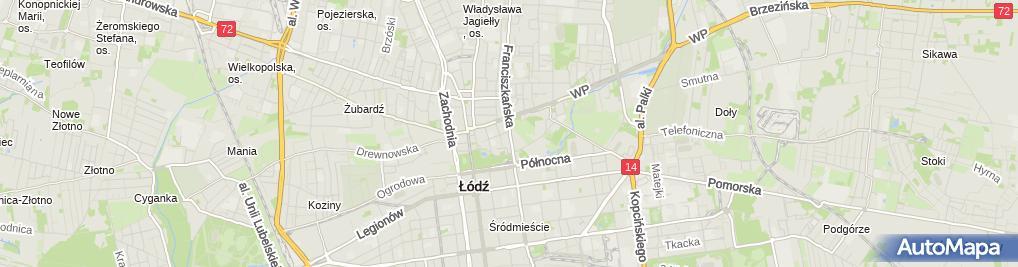 Zdjęcie satelitarne Filia Łódź - Bałuty nr 5