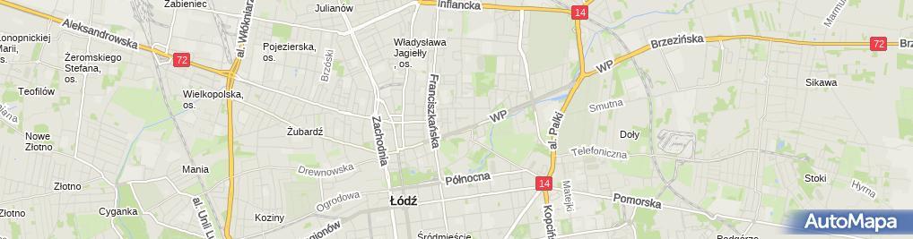 Zdjęcie satelitarne Filia Łódź - Bałuty nr 6