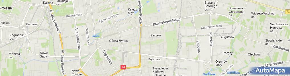 Zdjęcie satelitarne Filia Łódź - Widzew nr 9 i 10