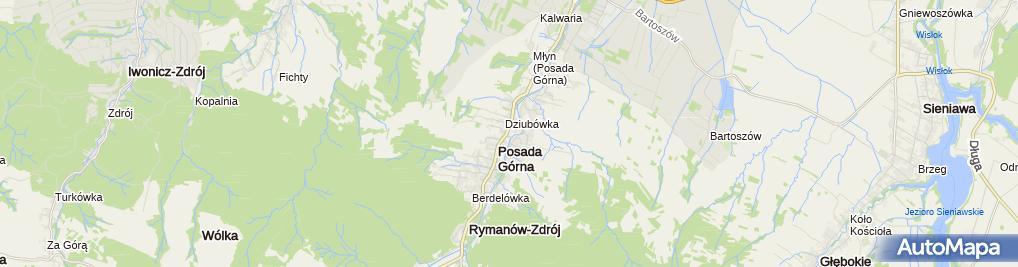 Zdjęcie satelitarne Gminna Biblioteka Publiczna w Rymanowie - Filia