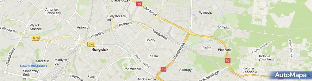 Zdjęcie satelitarne Książnica Podlaska im. Łukasza Górnickiego Filia nr 1