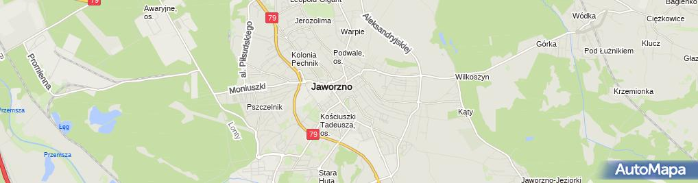 Zdjęcie satelitarne Miejska Biblioteka Publiczna w Jaworznie