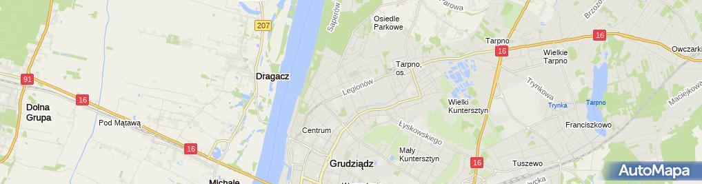 Zdjęcie satelitarne Miejska im. W. Kulerskiego
