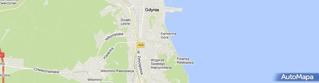 Zdjęcie satelitarne Miejska, Publiczna Filia nr 15