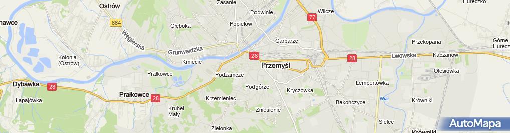 Zdjęcie satelitarne Pedagogiczna Biblioteka Wojewódzka w Przemyślu