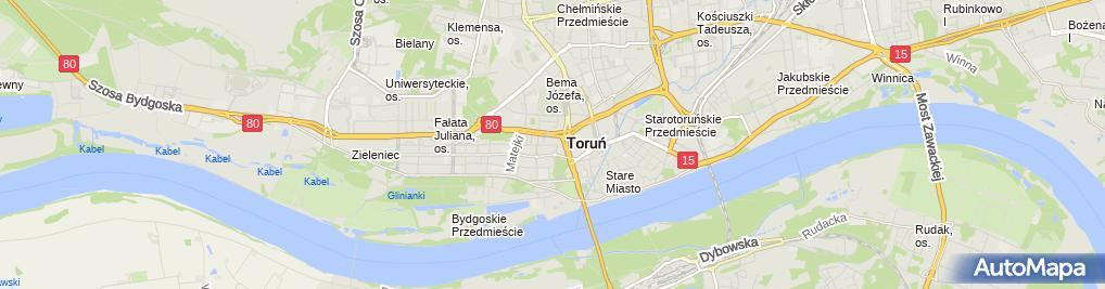 Zdjęcie satelitarne Wojewódzka Biblioteka Publiczna - Książnica Kopernikańska