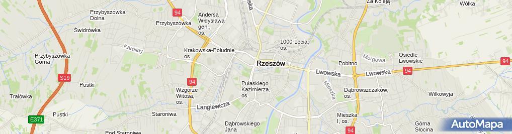 Zdjęcie satelitarne Wojewódzka, Miejska, Publiczna
