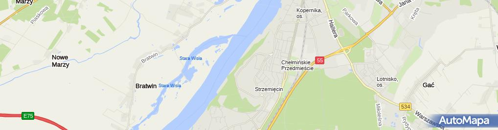 Zdjęcie satelitarne Biedronka - Supermarket