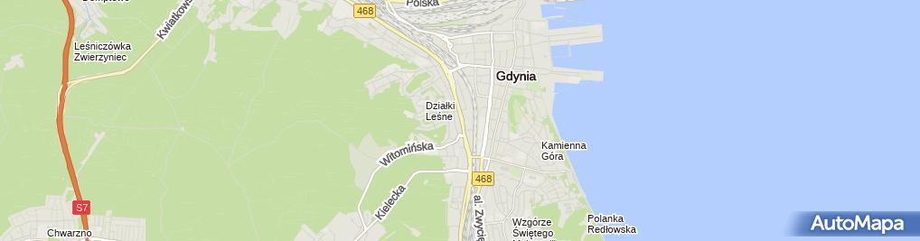 Zdjęcie satelitarne Agencja Obsługi Nieruchomości Grajan