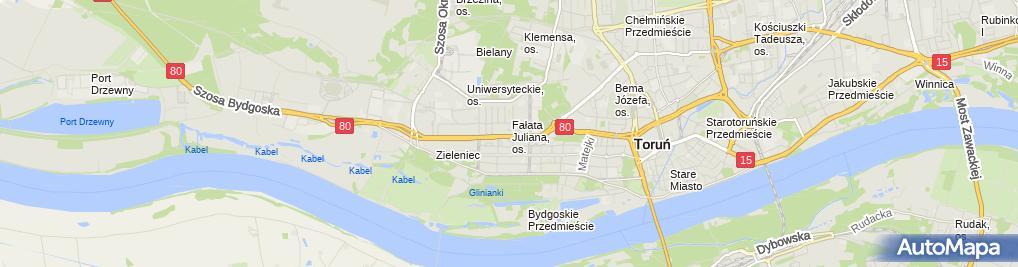Zdjęcie satelitarne Apartamenty Forte