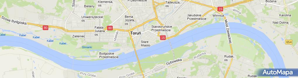 Zdjęcie satelitarne Biuro Obr Nieruchomościami Pośred i Handel Watra