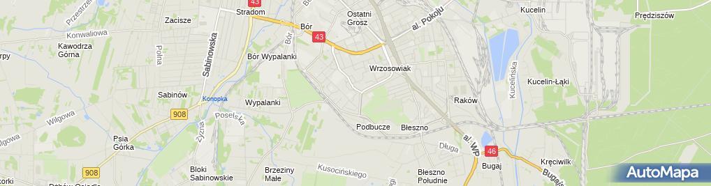 Zdjęcie satelitarne Biuro Obrotu Nieruchomościami Coni Borowieccy