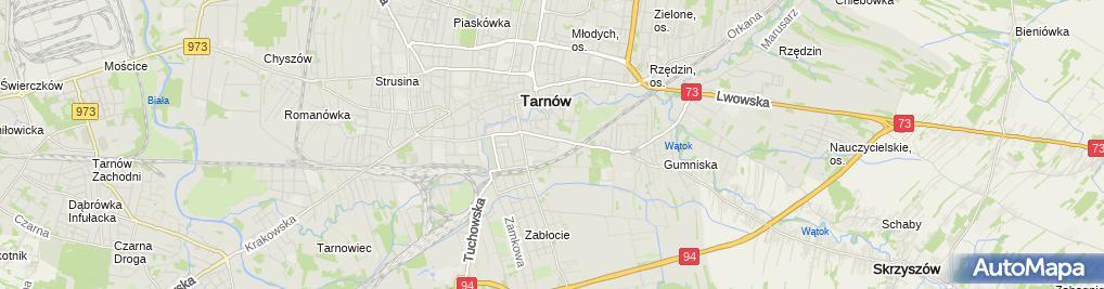 Zdjęcie satelitarne Biuro Obrotu Nieruchomościami Łukasz Więcek