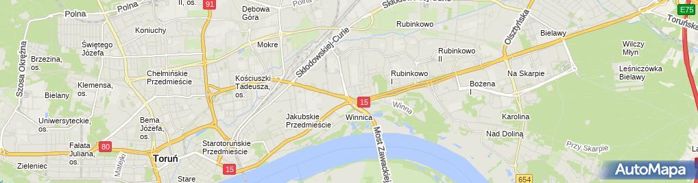 Zdjęcie satelitarne Biuro Wyceny Nieruchomości Danuta Jabłońska Tomasz Jabłoński