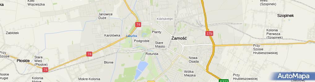 Zdjęcie satelitarne Domena Nieruchomości Budownictwo