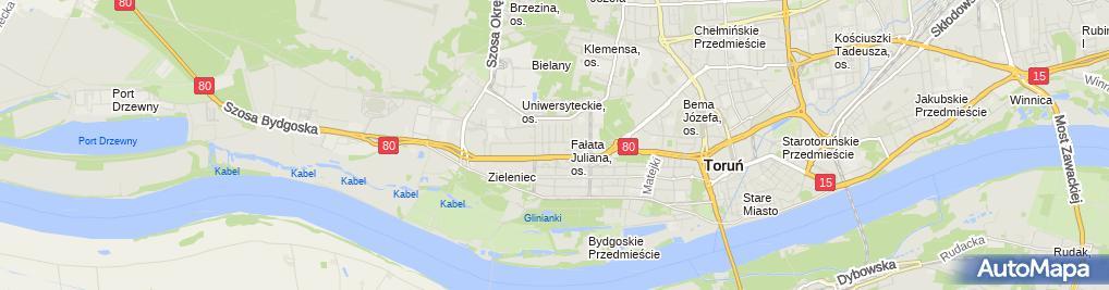 Zdjęcie satelitarne JWG Nieruchomości Górski Janusz