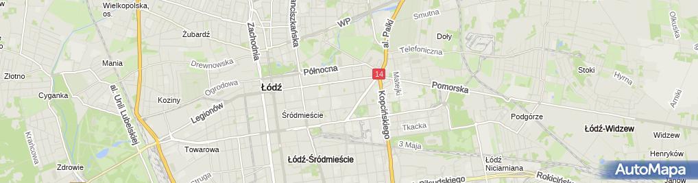 Zdjęcie satelitarne Kancelaria Doradców Nieruchomości Katarzyna Wysocka, Andrzej Wysocki