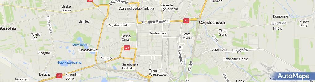 Zdjęcie satelitarne Marianna Kostrzewa Nieruchomości