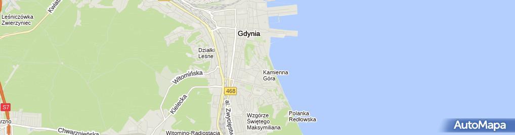 Zdjęcie satelitarne Marina Nieruchomości Hanna Mukoid-Jałosińska