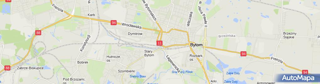Zdjęcie satelitarne Śląskie Centrum Pożyczek